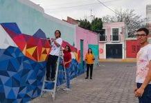 Estudiantes de Edificio de la UDLAP mejoran imagen urbana del Judería de Jesús Tlatempa
