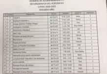 HORARIO DE ACOMPAÑAMIENTOS Y RECURSAMIENTOS