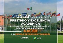 La Escuela de Negocios y Posesiones de la UDLAP obtiene documentación por la AACSB International