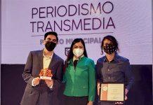 Estudiantes UDLAP ganadores del primer espacio del Premio Municipal de Periodismo Transmedia
