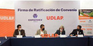 COPARMEX Puebla y UDLAP ratifican convenio de colaboración